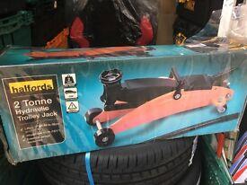 trolley jack halfords trolley jack brand new in box unused £15