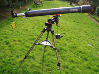 Telescope - Celestron Astromaster 90EQ with tripod and mount Good condition