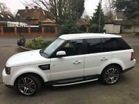 Range Rover Sport HSE 12 PLATE FUJI WHITE EXCEPTIONAL CONDITION MANY EXTRAS 35,000 miles