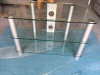 Glass 3 shelf TV cabinet