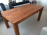 Rustic Solid Teak Dining Table For Sale
