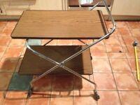 Retro vintage folding tea trolley