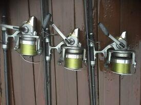 3 Daiwa Emblem Pro 5000s VGC carp reels boxed and spare spools