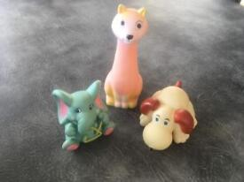 Vintage squeaky baby toys