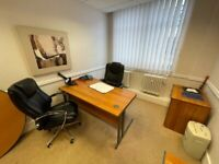 Office Desk, Pedestal, Chair, Meeting Table & Cupboard