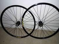Mavic wheel set Hope hubs