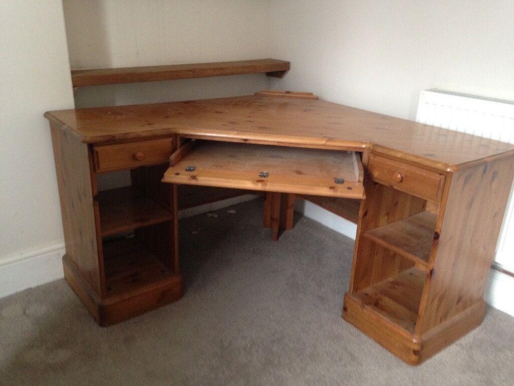 Ducal Pine Corner Desk