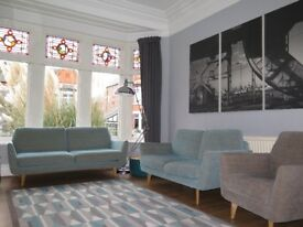 Duck Egg ADVENTURES IN FURNITURE 'Dakota' 3 & 2 Seater Sofas & Armchair Suite