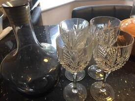 Crystal glasses & Caraffe