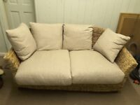 Conservatory wicker 2 seater settee