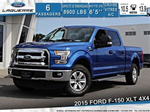 2015 Ford F-150 XLT**4X4*6 PLACES*BLUETOOTH*A/C*CRUISE**