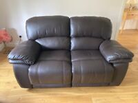 Beautiful Leather Reclining Sofa Suite