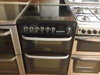 Black 60cm Hotpoint electric cooker