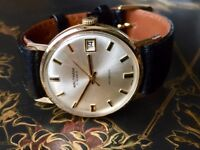 Vintage 9k 9ct solid gold rare Waltham mens watch (Christmas)