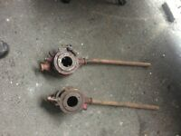 Pair Of Large Industrial Pipe Threaders call for info
