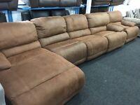 Ex Display LazyBoy Large Recliner Corner Sofa + Recliner Chaise + Single Recliner Chair