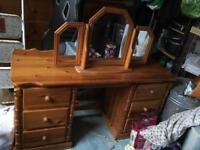 ** CHEAP **Pine wood furniture * chest mirror draws solid wood *