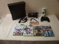 Microsoft Xbox 360 Slim 60 GB Console with Games and Accessories Bundle