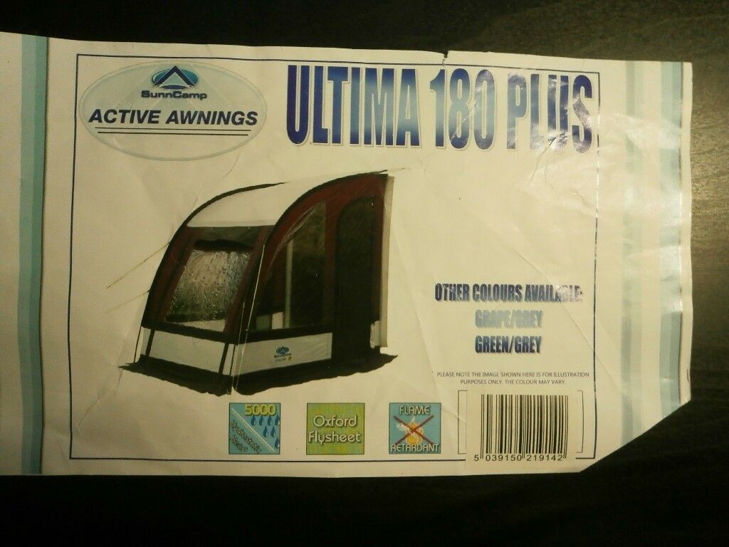 4171c5f6c86 Caravan Porch Awning. SunnCamp Platinum Ultima 180 Plus. Colour ...