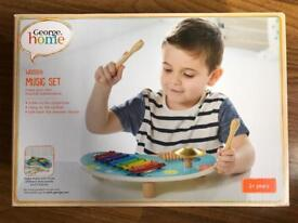 BRAND NEW GEORGE HOME WOODEN MUSIC SET
