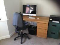 Computer work station/ desk & swivel chair