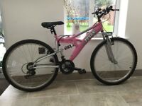 "Ladies' Trax mountain bike, 14"" frame -used once!"