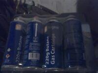 Brand new Butane Gas Cans Cartridges 220g x 4