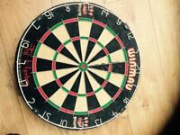 ted hankey double world champion winmau dart board