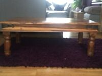Coffee table , Heavy solid wood