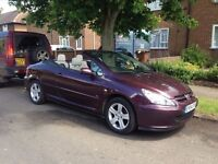 Peugeot 307 cc Convertible, white leather , hard top, low mileage