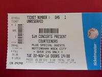 One ticket for the Courteeners gig at Nottingham Rock City 22nd November