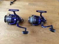 Two daiwa sweepfire 4000X fishing reels