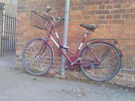 "Vintage ladies bike - ""Real Classic"" with basket and lock"