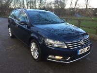 2014 VW PASSAT TDI EXECUTIVE ESTATE- 1 OWNER FROM NEW- FSH- FULL LEATHER-NAV CRUISE- EXCELLENT