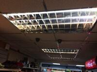 All shop roof suspended culling with light penal