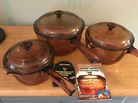 Vision Saucepan Set, as new condition