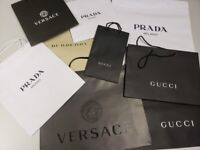 fcb2ac0c2 Gucci Prada Paper Shopping bags Retail Carrier bags and more Designers  paper bags