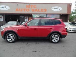 2007 BMW X3 3.0i SUPER CLEAN, LEATHER, SUNROOF, AWD