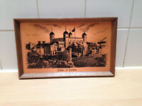 """Tower of London copper etching picture 13"""" x 8"""""""