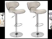 3 breakfast bar stools brand new - boxed