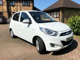 Hyundai i10 Style 2011. FSH and MOT April 2019. 44k miles. Log book stamps. Air con, Elec Sunroof