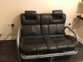 Retro Leather Ford Granada sofa top gear settee seat