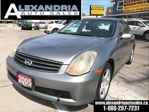 2005 Infiniti G35 Luxury AWD leather safety included