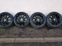 """Fully refurbished BMW 3 series E46, E90 MV2 alloy wheels 18"""" with good tyres"""
