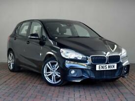 BMW 2 SERIES 216d M Sport [Leather, Sat Nav] 5dr (black) 2015