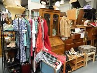 antique, retro & household furniture, vinyl, vintage clothing, art, antiques sale this Monday 11-4pm