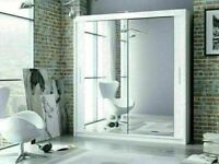 💛💛CHEAPEST PRICE EVER💛💛BERLIN 2 DOOR SLIDING WARDROBE WITH FULL MIRROR -EXPRESS DELIVERY