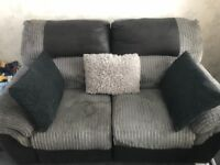 2 Seater Grey Recliner