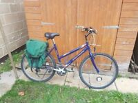 Equinox Ladies Bicycle in good condition with pannier bag etc