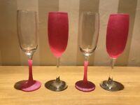 Glitter glass champagne wine Birthday Wedding Gift